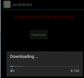 Progress Bar Example