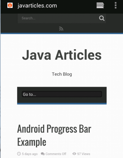 Javarticles.com in browser
