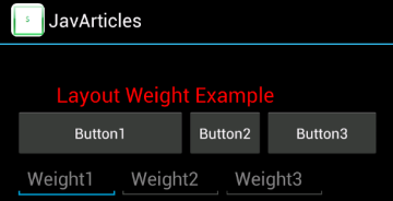 layout_weight example