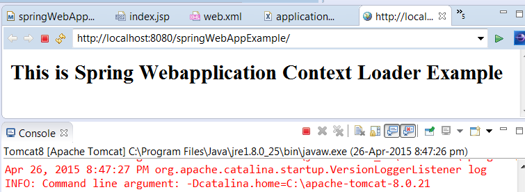 Spring web application context example