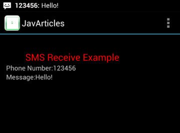 SMS Received