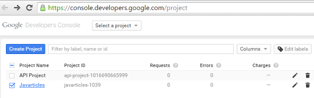 Google Project List