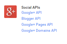 Click on Google + APIs