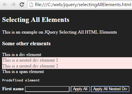 Apply CSS on all nested Div elements