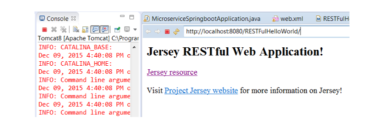 RESTFul webapp home page
